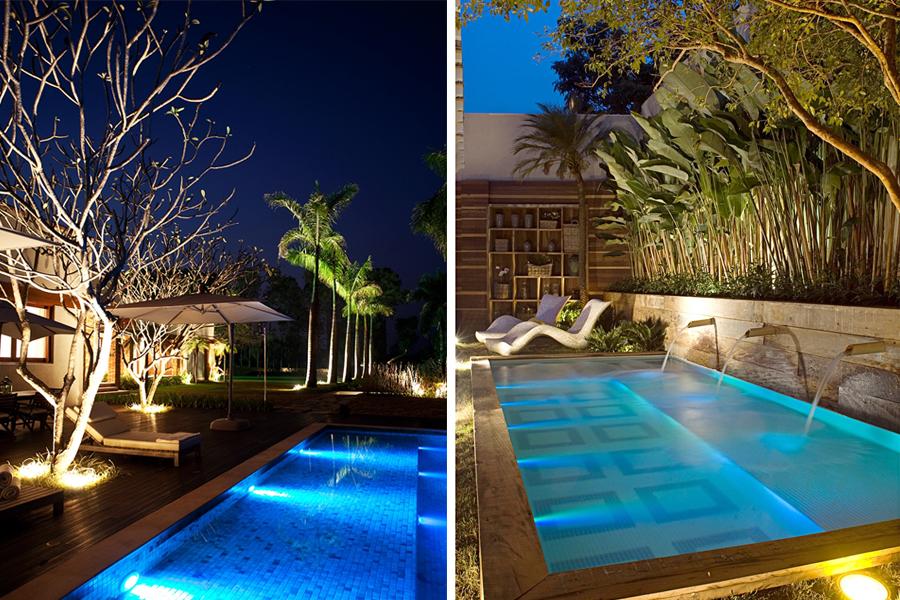 Como iluminar a piscina de casa lustreco - Piscina da interno ...